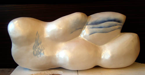 Christopher Hart Chambers Sculpture Pearl Fire